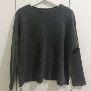 Pull and Bear grey sweater