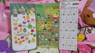 水果,動物貼紙