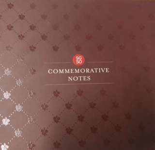 SG50 Commemorative Notes (UNC) with folder