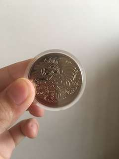 $10 rooster year singapore coin