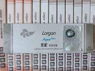 台灣代購 Largan星歐Aqua彩色隱形眼鏡 con 清新黑 10片裝