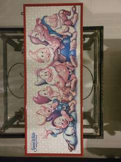 Snow White and seven draft puzzle frame
