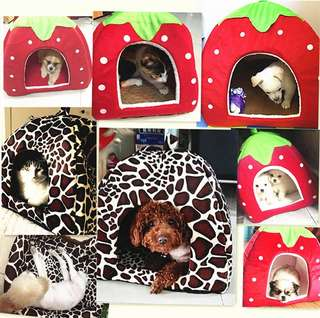 BN Dog/Cat/Bunny/Rabbit/Chinchilla Foldable Soft Bed House