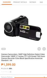 2 digital camera recorder..red and black