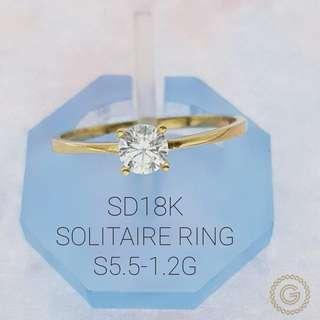 Saudi Gold 18k Engagement ring 💍