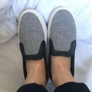 Grey Zara Slip Ons