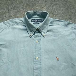 RALPH LAUREN Button Down Chambray Shirt Long Sleeve