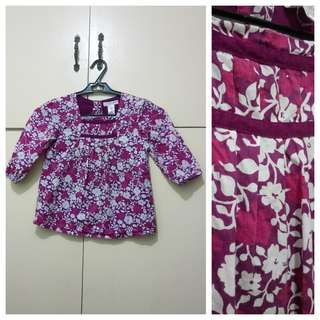 GA76 Old Navy Floral Blouse for Girls 4T (see pics for details)