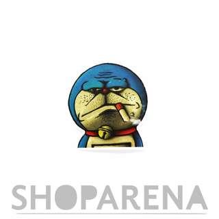 Smokaholic Doraemon Matte Sticker Decal