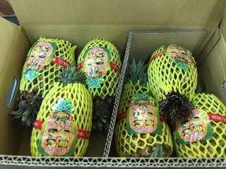 空運台灣金鑽菠蘿批發整箱