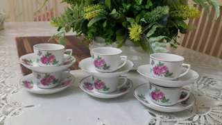 Teacup and Saucer Twin Roses