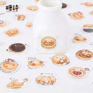 Burnt Pancakes Scrapbook Stickers