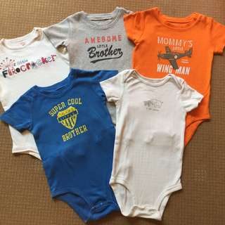 (24 mos up) Carter's set of 5 onesies/bodysuits