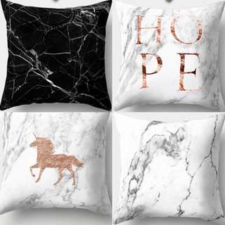 Polyester Marble Cushion Covers