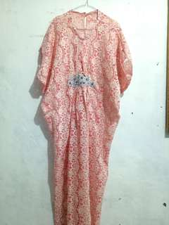Preloved kaftan brukat lace cantik like new free innerf