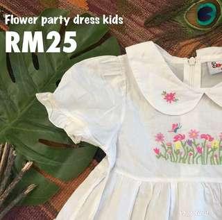 White sun dress for girls