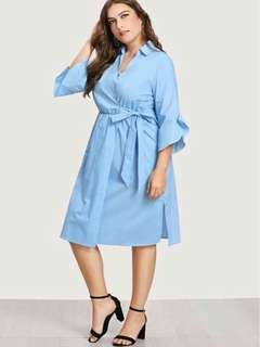 Plus size wrap up dress