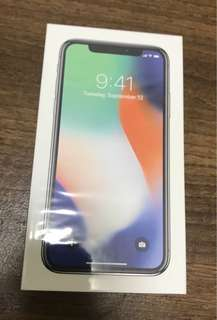Brand new iPhone X 64GB Silver - seal not opened