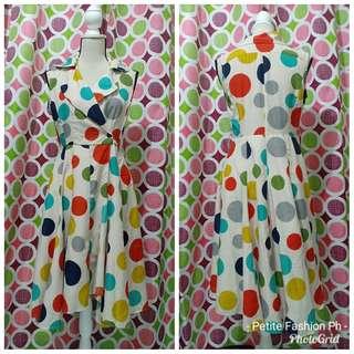Polka Dot Overlap Dress