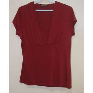 Marks and Spencer brick red blouse top UK16