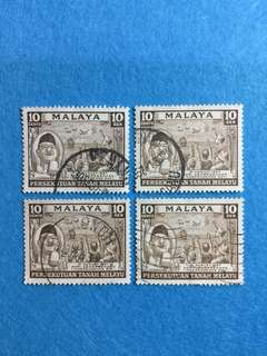 1957 Merdeka/ Independence Day Issue 4 Used Stamps