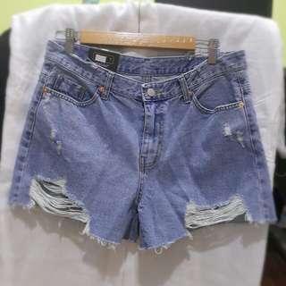 🚚 正韓 牛仔短褲XL