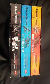 The Hunger Games in a box of 3 books