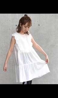🚚 日本帶回w closet清新白色娃娃洋裝