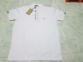 Bnwt men's burberry White Polo Tee S (factory outlet stock)
