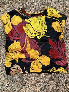 Authentic Zara floral top, excellent condition