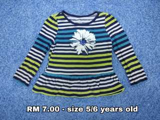 5/6 years old - Blouse Dress Kids Cloth Shirt Girl Boy