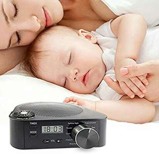 Cherry Koala White Noise Sound Therapy Machine for Sleep, 10 All Natural Soothing and Relaxing Sounds, Covers Noise for Improved Concentration and Relaxation, Perfect for Baby & Tinnitus Sufferers.  Black color
