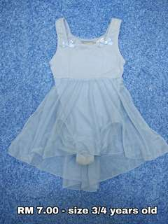 3/4 years old - Dress Blouse Girl Kids