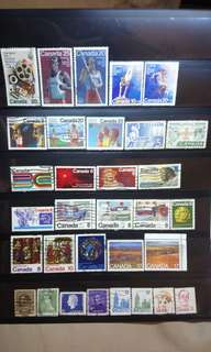Canada Stamps #2 lot of 32 pcs Montreal Olympics 1976