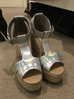 Topshop Holographic wedged