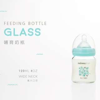 🚚 mammyshop 媽咪小站 -母感體驗 a33玻璃防脹氣奶瓶‧寬大口徑 / 120ml