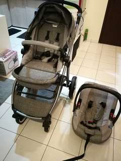 (Mimosa 1st class travel system Ash grey) baby Stroller.