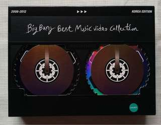 BIGBANG BEST MUSIC VIDEO COLLECTION 2006-2012 KOREA EDITION 韓版DVD