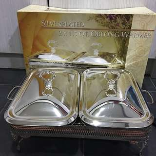 Silverplated Oblong Warmer (Queen Anne Inspired)