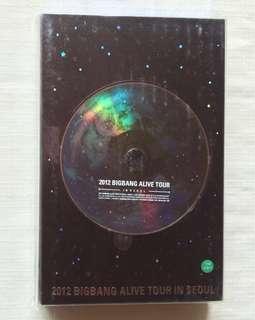 2012 BIGBANG ALIVE TOUR IN SEOUL 韓版DVD 附海報