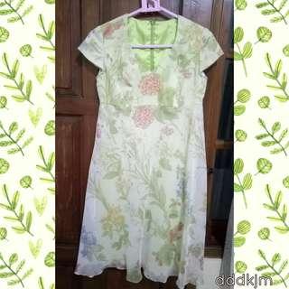 Dress Hijau Bunga Cantik 🌿