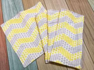 Handmade Washable Flannel Baby Wipes and Burp Cloths