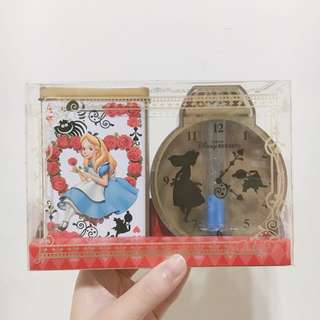 迪士尼 愛麗絲 沙漏 鐵罐