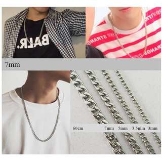 [PO] Link chain necklace 7mm/5mm/3.5mm/3mm