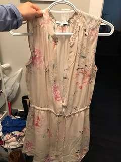 Aritzia Babaton Benedict dress S floral