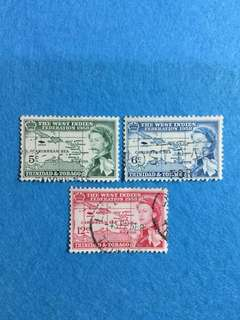 1958 Trinidad & Tobago Federation of West Indies 3V Used Complete Set