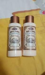 malt & barley  bath cream