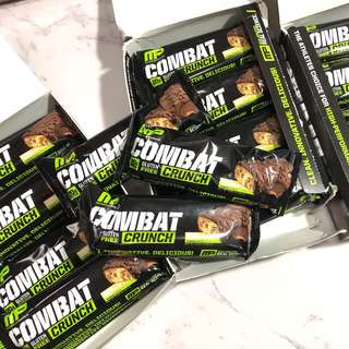 🚚 🇺🇸MP Muscle Pharm Combat Crunch Protein Bar 花生巧克力 高蛋白棒