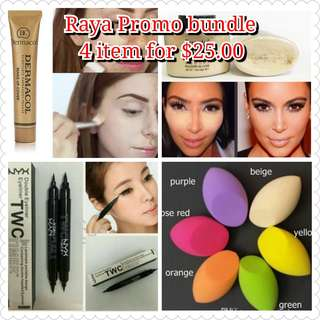 Raya Dermacol bundle promo 4 item for $25