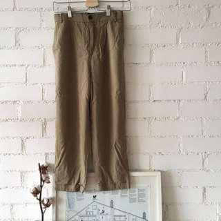 ZARA khaki cuffed pants